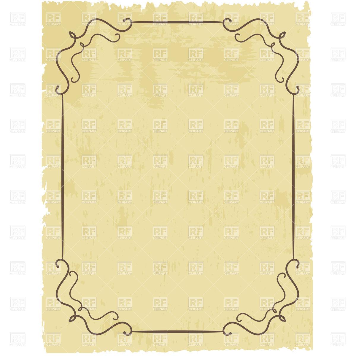 Vintage Paper Clipart.