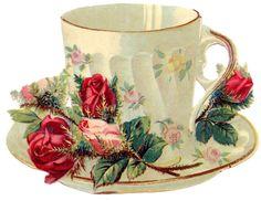 vintage tea party clip art.
