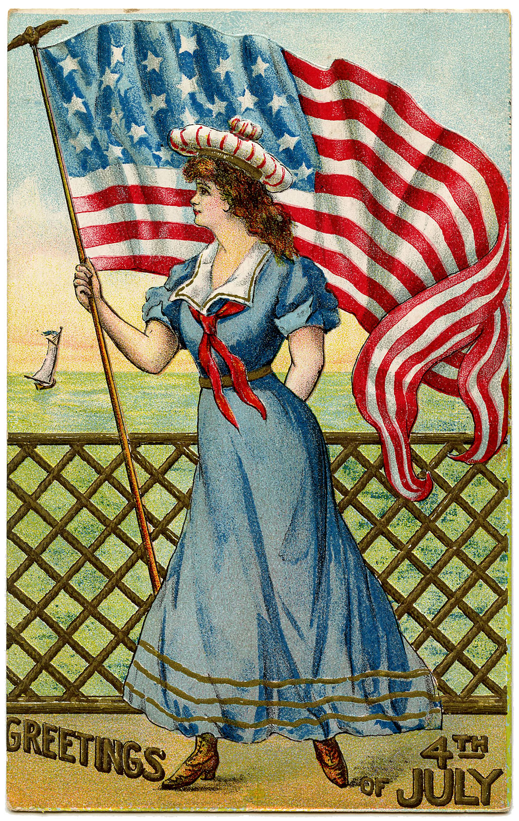 Vintage Patriotic Image.
