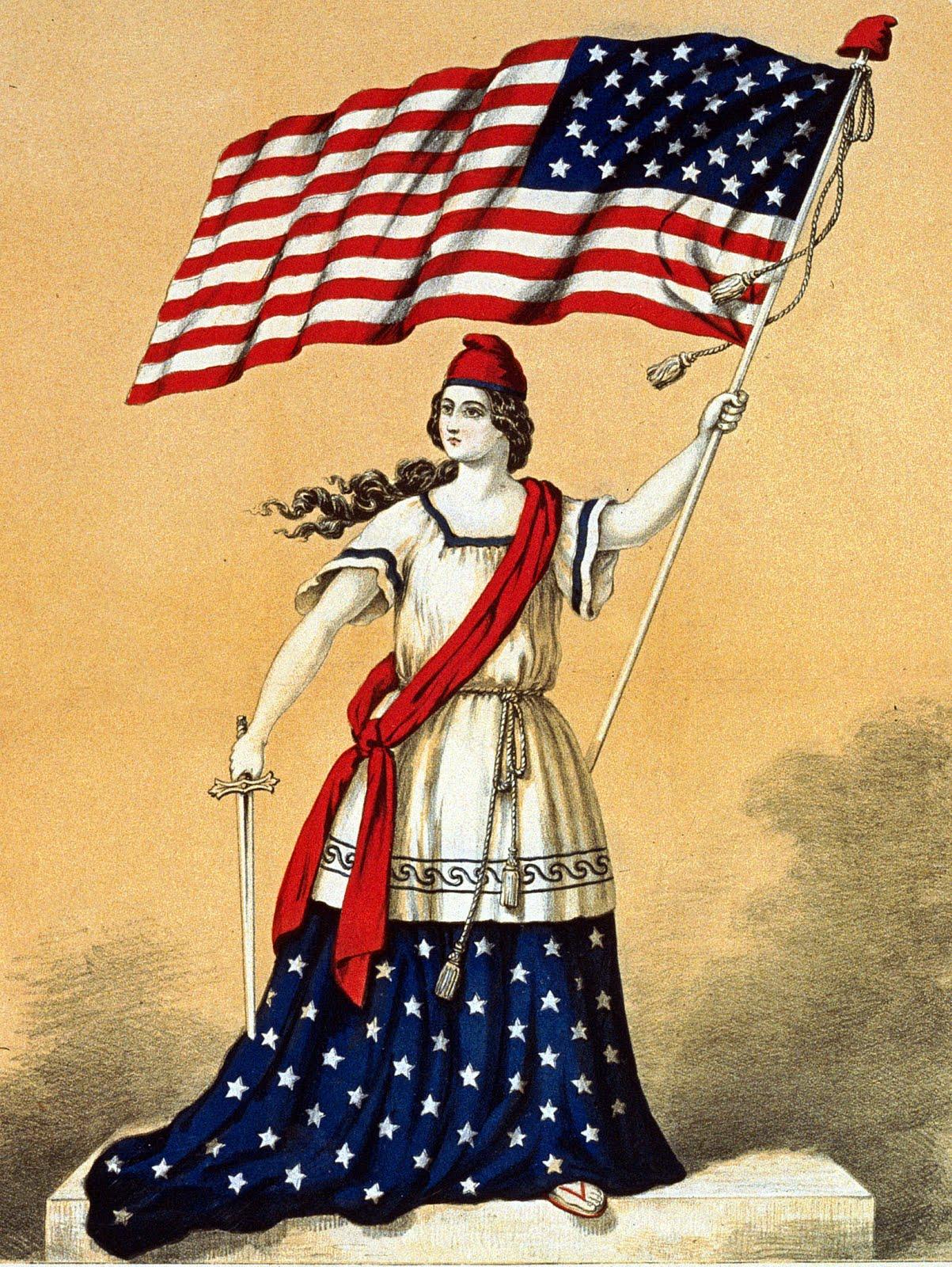 Vintage Flag Clipart.