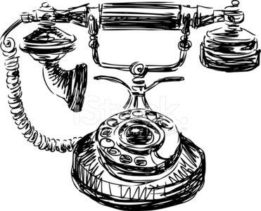 Vintage Phone premium clipart.