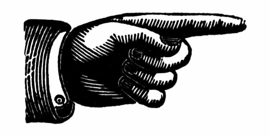 Vintage Hand Pointing Clipart 157,46kb Download.