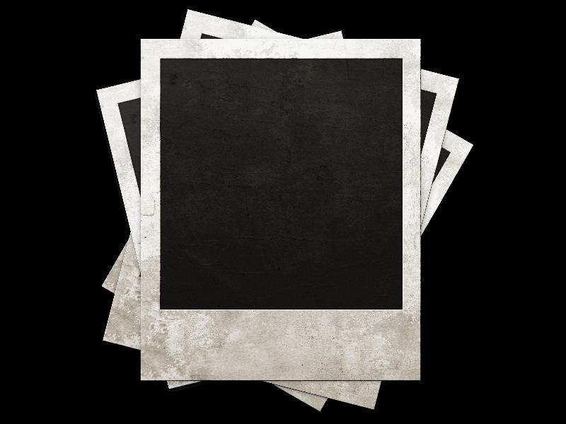 Retro Stacked Polaroid Photo Frames (Isolated.
