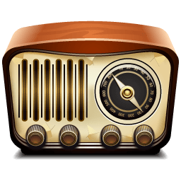 Radio Vintage Illustration transparent PNG.