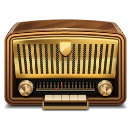 Vintage Radio Icon.