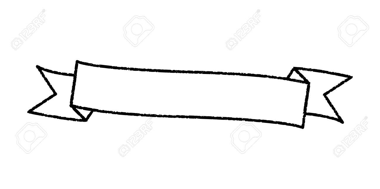 Single blank vintage ribbon banner vector logo design.