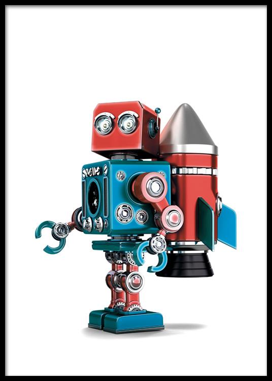 Vintage Robot Poster.