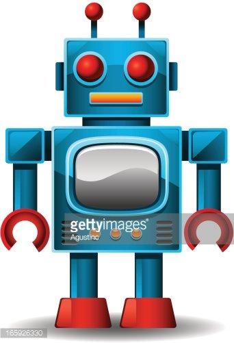 Vintage Robot Clipart Image.