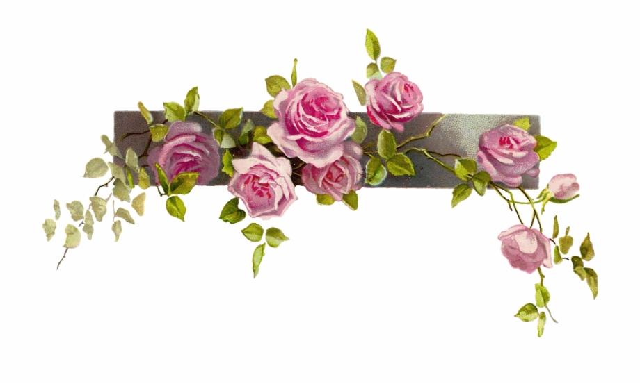 Free Vintage Flower Border Png, Download Free Clip Art, Free.