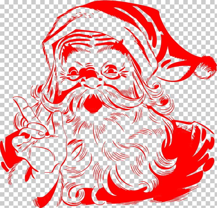 Santa Claus Red Vintage, Santa Claus PNG clipart.