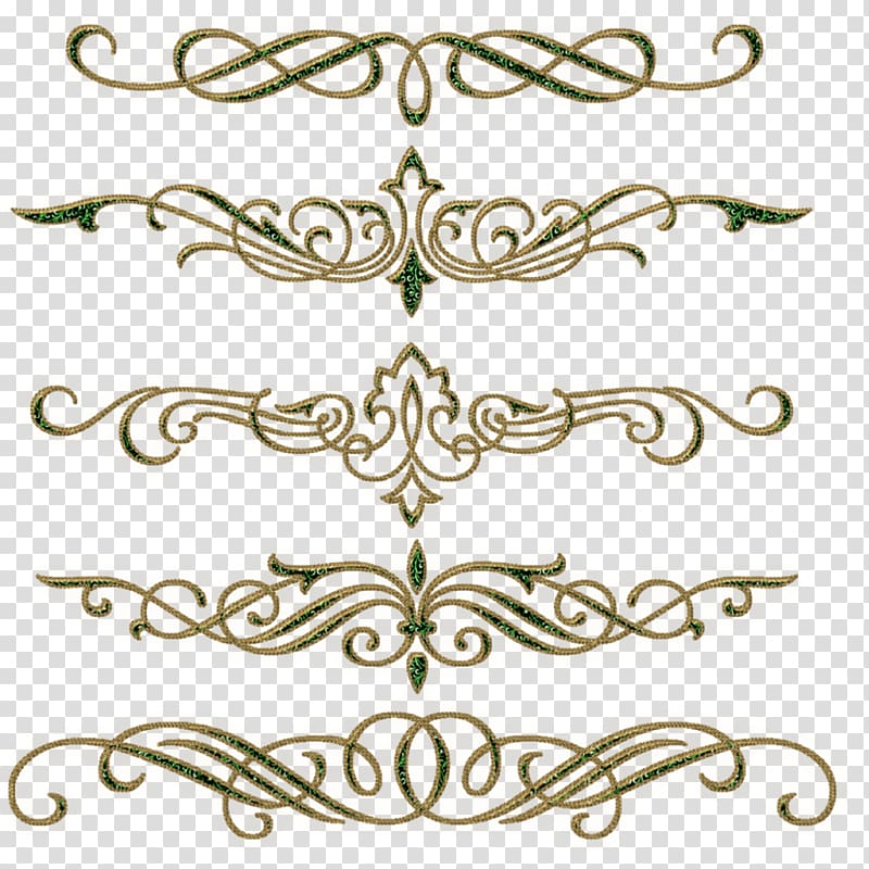 Gold and green scroll frames, Gemstone , vintage border.