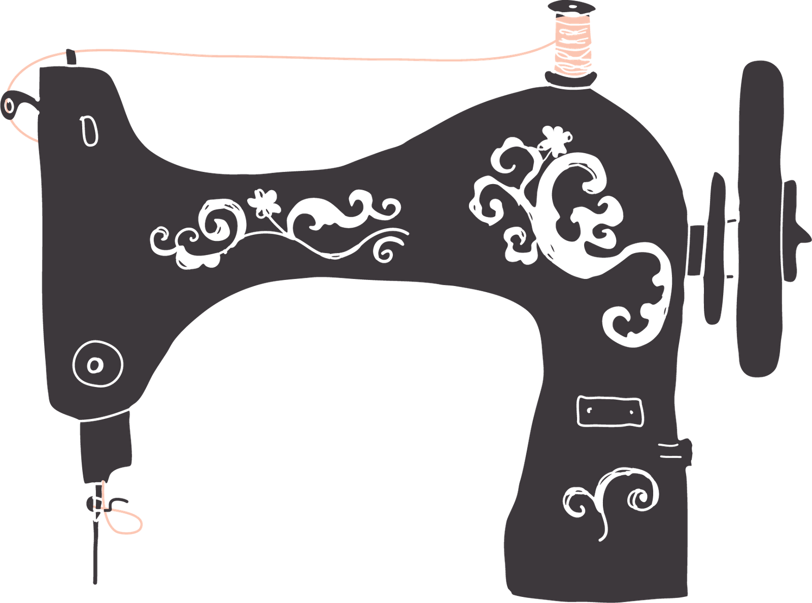 Vintage Sewing Machine PNG HD Transparent Vintage Sewing.