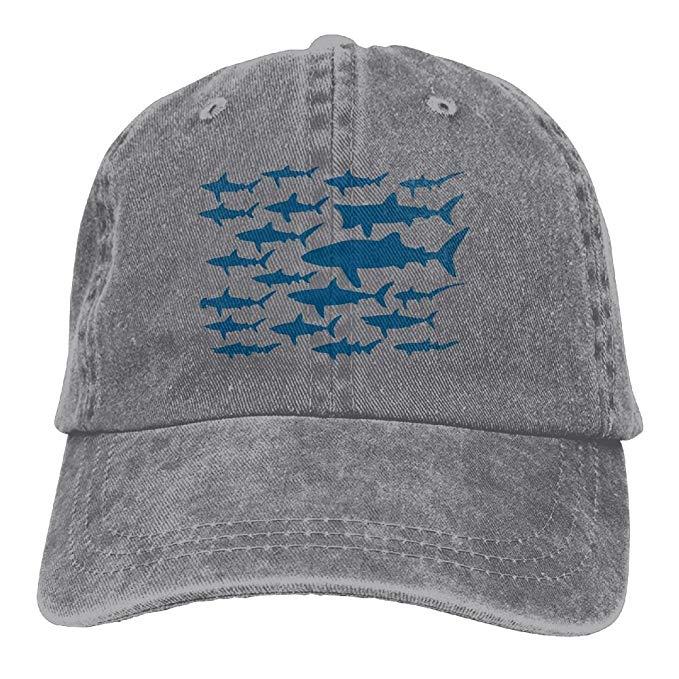 HHNLB Mako Shark Clipart Vintage Jeans Baseball Cap for Men and Women.