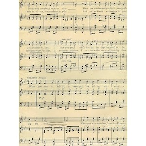 Vintage Sheet Music Clipart.