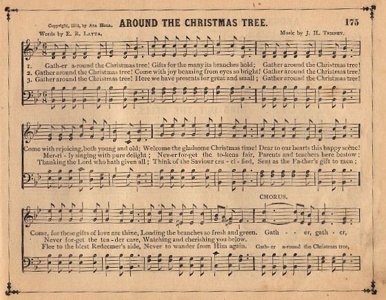 Vintage Christmas Sheet Music Clipart.