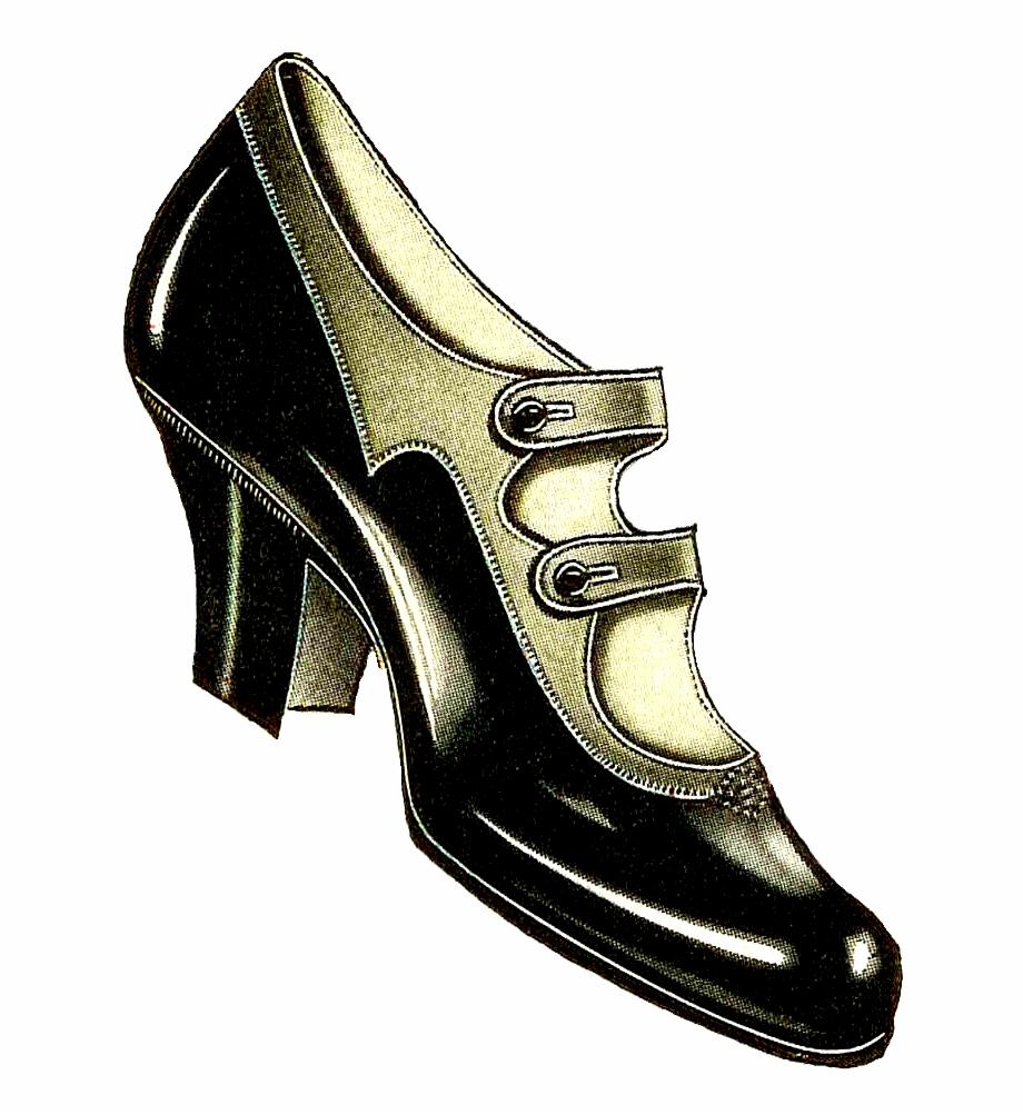 Women Shoes Clipart Victorian Shoe.