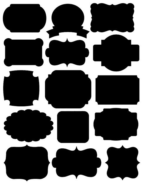 vintage silhouette free clipart rectangle label designs Laser Gun Laser Gun