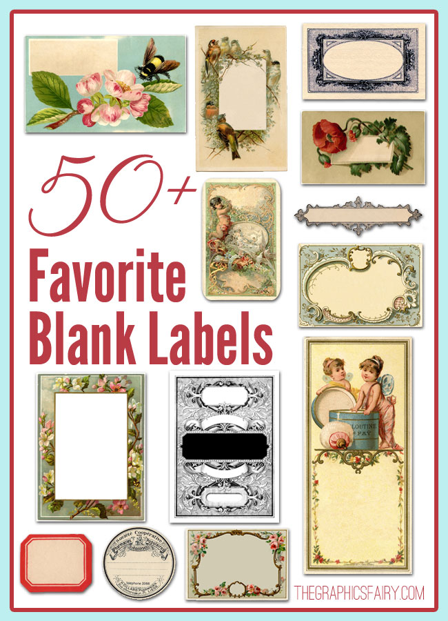 50+ Favorite Blank Labels.