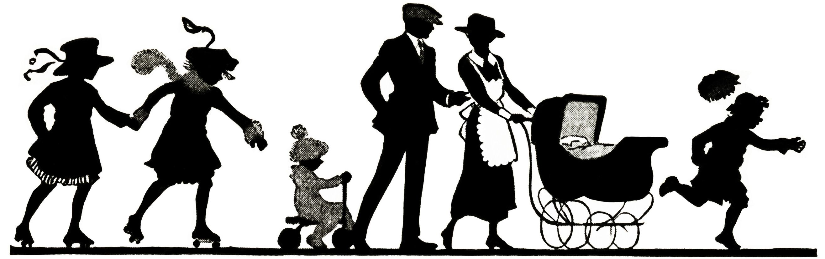 vintage silhouettes.