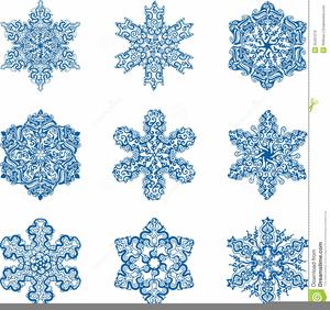 Vintage Snowflake Clipart.