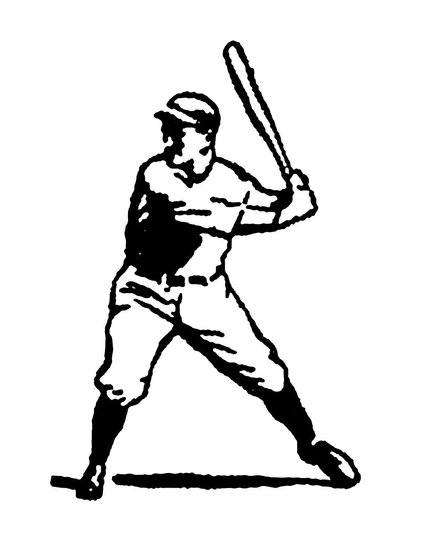 Vintage Baseball Clipart.