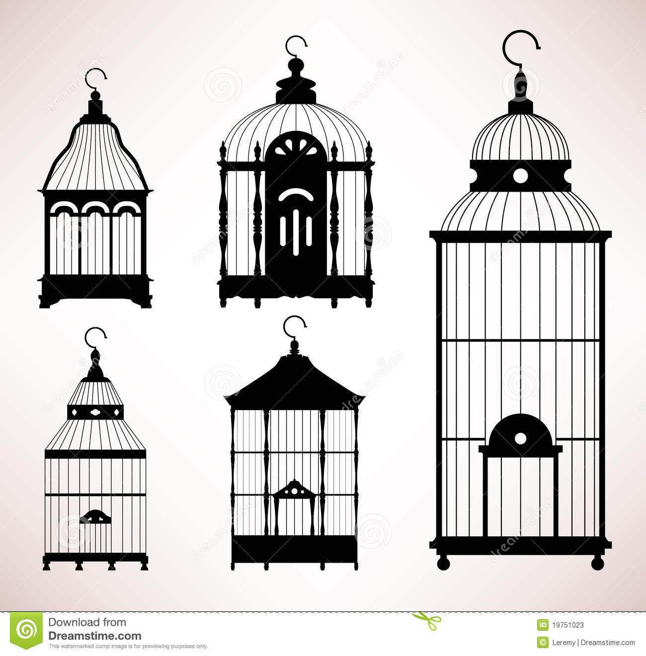 Birdcage Stock Illustrations.