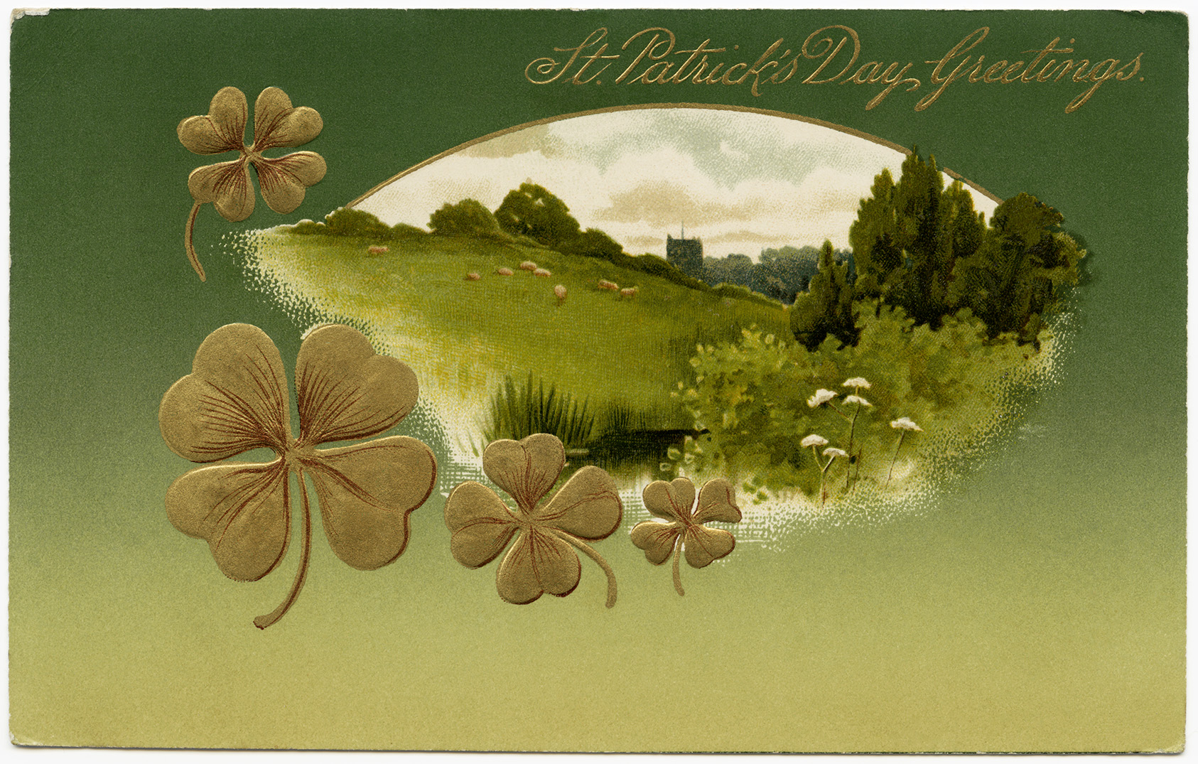 Free Vintage Image ~ St Patrick\'s Day Postcard.