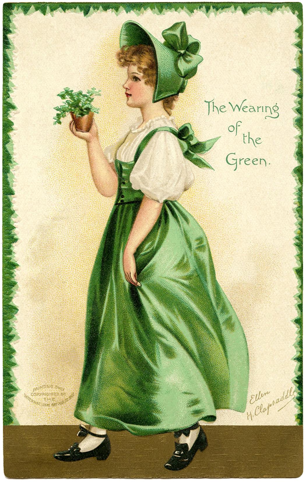15 St Patricks Day Clip Art Ladies.
