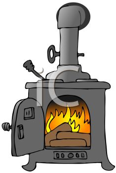 Old Fashioned Wood Stove.