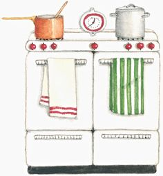 Cute oven clipart.