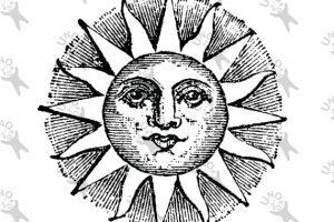 Vintage sun clipart 1 » Clipart Station.