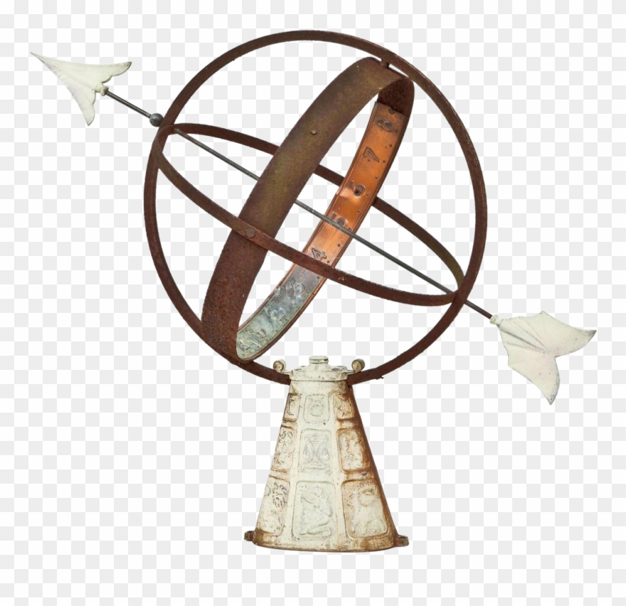 Vintage Sundial Sphere With.