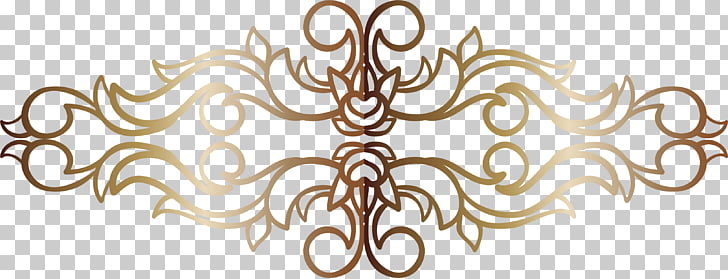 Symbol Body Jewellery Pattern, vintage gold PNG clipart.