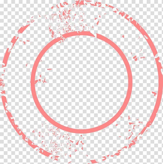 Orange ring illustration, Circle, Vintage Travel Tag.