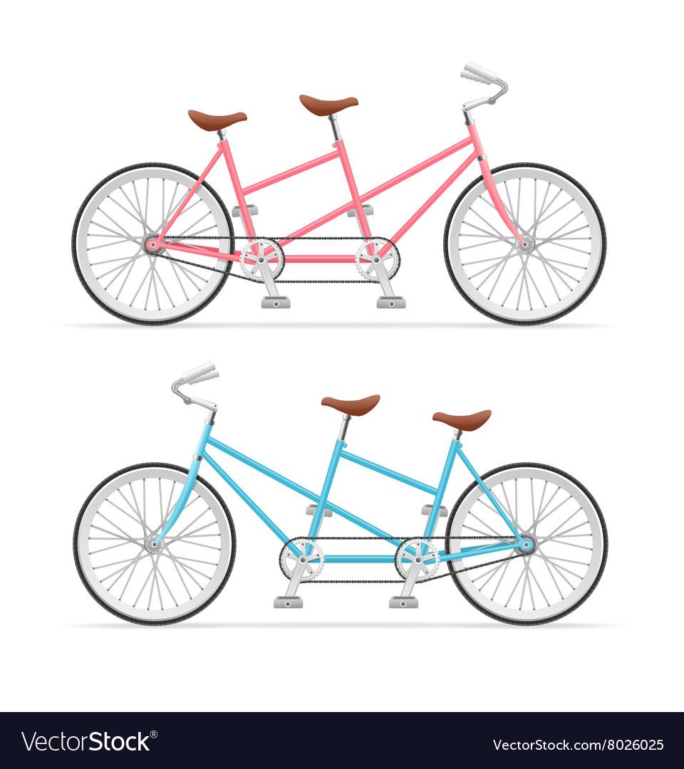 Vintage Tandem Bicycle Set.