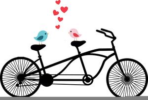 Vintage Tandem Bicycle Clipart.
