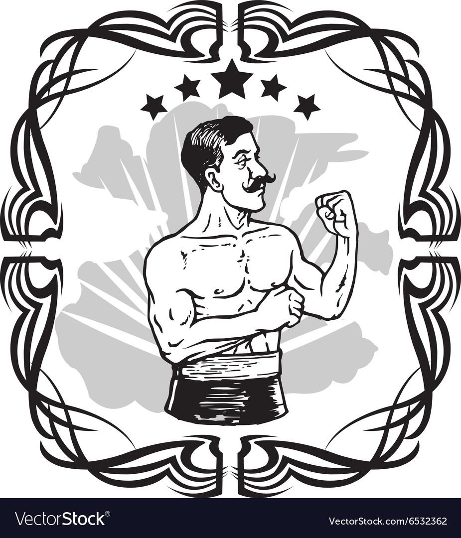 Vintage Boxer Tattoo.