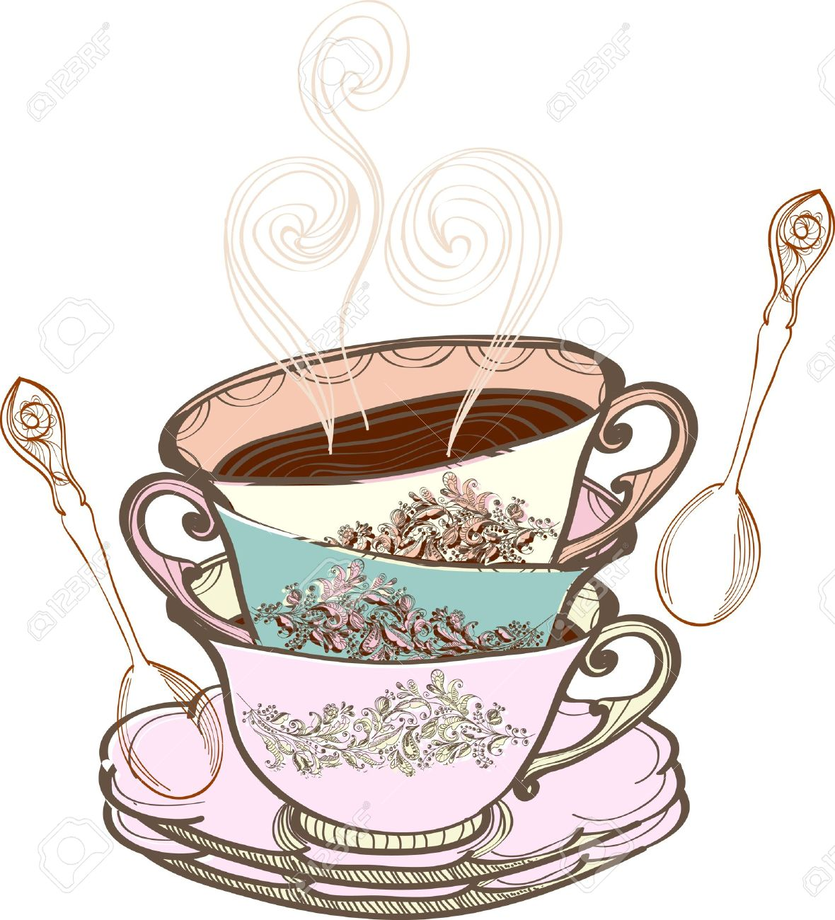 Vintage afternoon tea clipart 5 » Clipart Station.