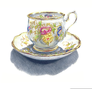 Vintage Teacup Clipart.
