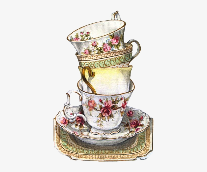 Vintage Tea Cup Drawing at PaintingValley.com.