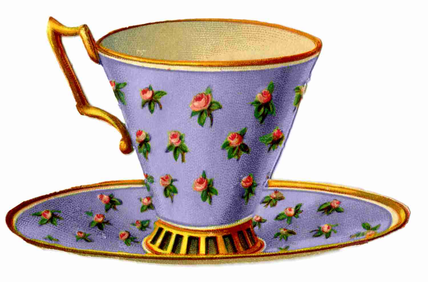 8888+ Cliparts: Teacups And Saucers Clipart.