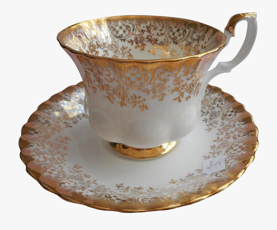 Free Download Royal Albert Gold Vintage Tea Cup Clipart.