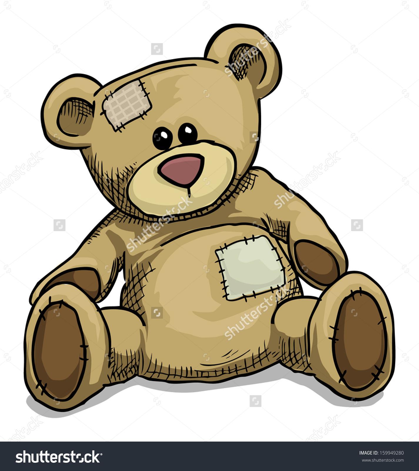 5283 Teddy Bear free clipart.