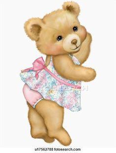 47 Awesome vintage teddy bear clip art.