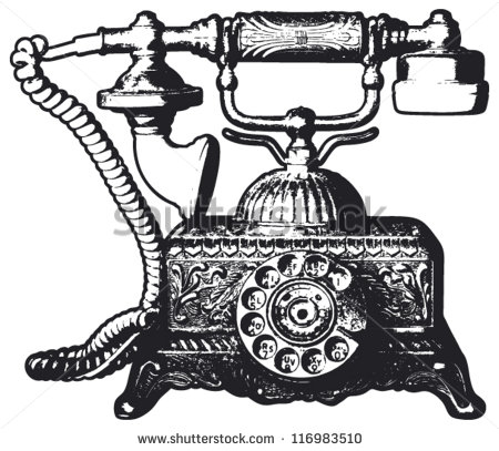 Vintage Telephone Stock Images, Royalty.
