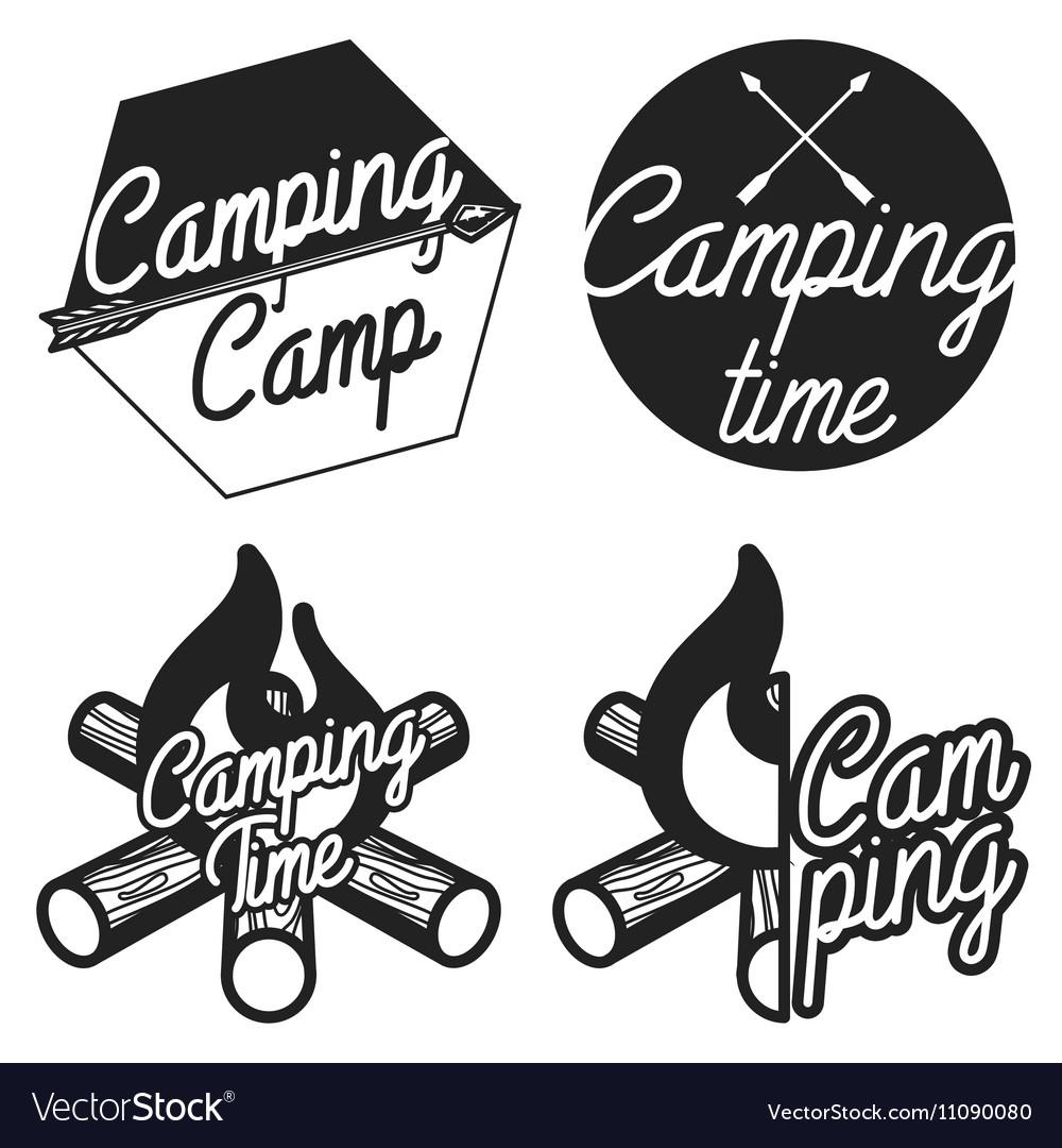Vintage Camping emblems.