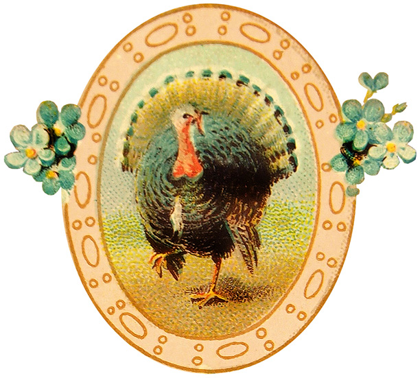 Free Printable Vintage Thanksgiving Postcard Art @ Vintage Fangirl.