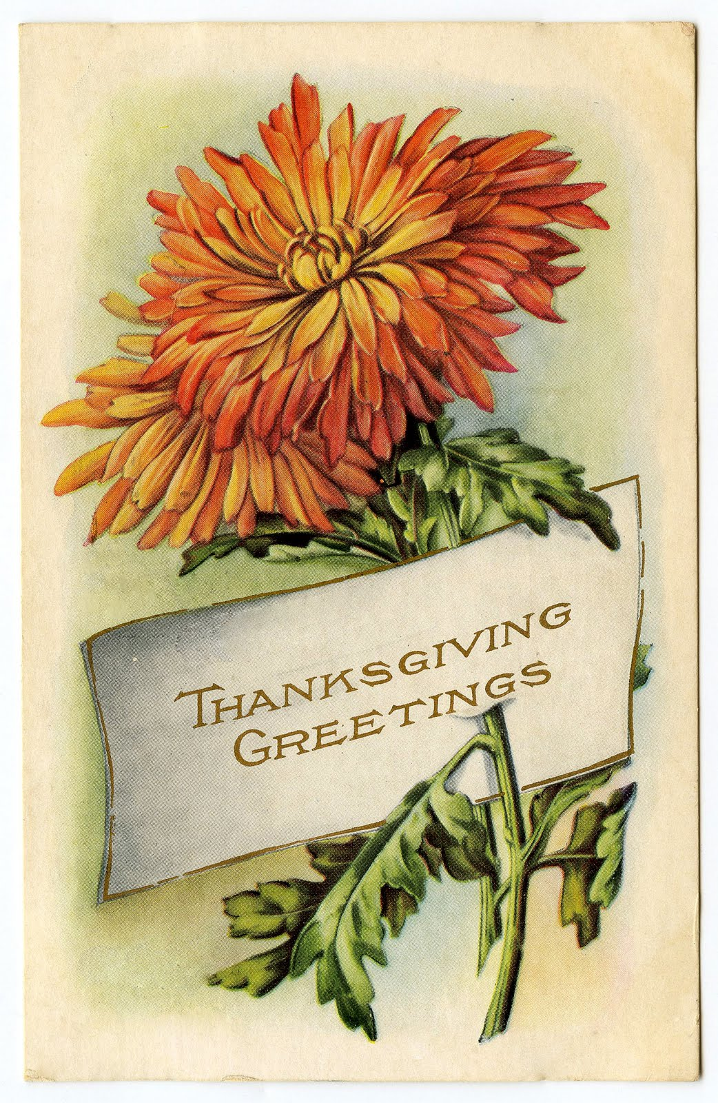 Vintage Thanksgiving Clip Art.
