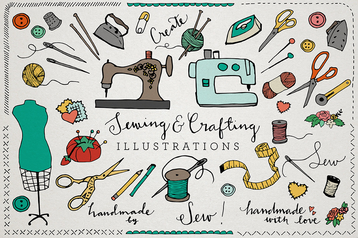 Sewing clipart.