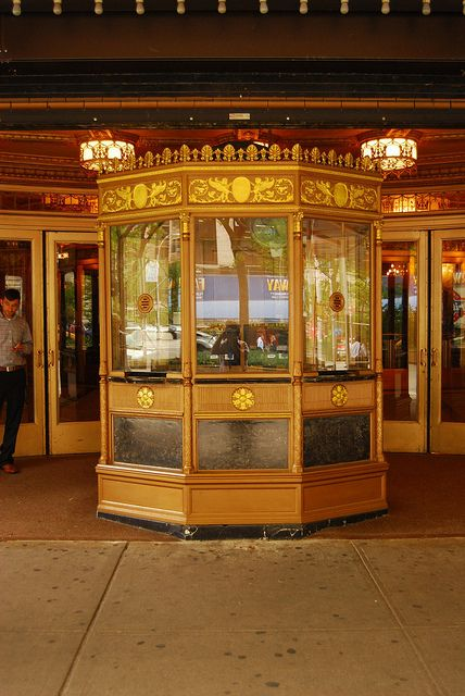 Ticket booth.